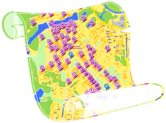 план-карта ВВЦ - схема 2012
