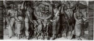 Фреска над входом в 71й павильон
