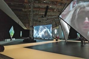 На выставке Гринуэя в Манеже