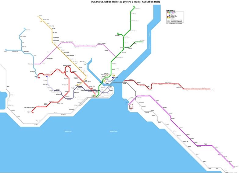 Схема метро, трамвая и