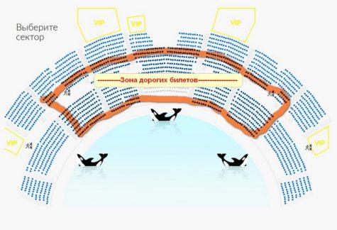 Схема зала Москвариум
