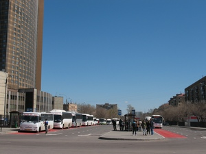 остановка автобусов ВДНХ