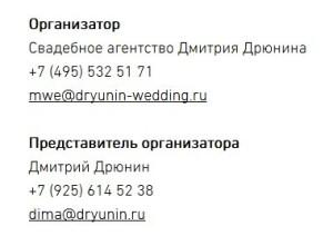 Контакты СА